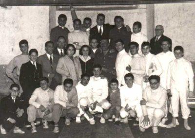 1952 - Maestro Mattei e gruppo della Nedo Nadi