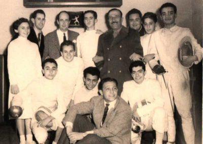 1953 - Maestro Mattei e Atleti della Nedo Nadi