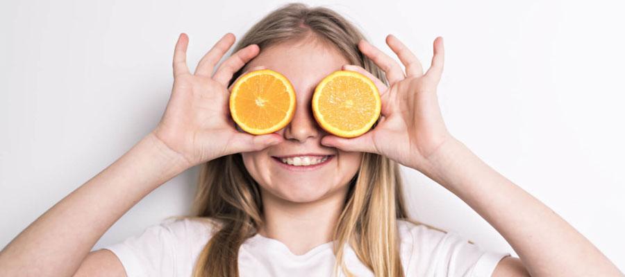 alimentazione arancia bambina big