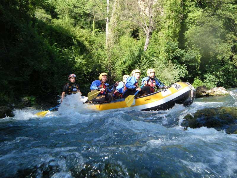Il rafting in Campania
