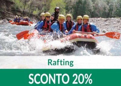 Rafting e percorsi avventura SCONTO 20%