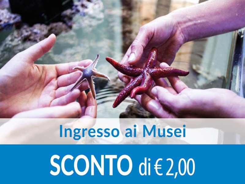 Ingresso ai Musei SCONTO di 2 euro