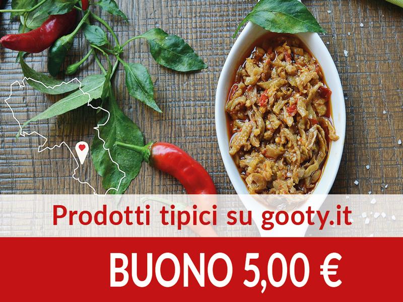 Prodotti tipici su gooty.it BUONO € 5,00