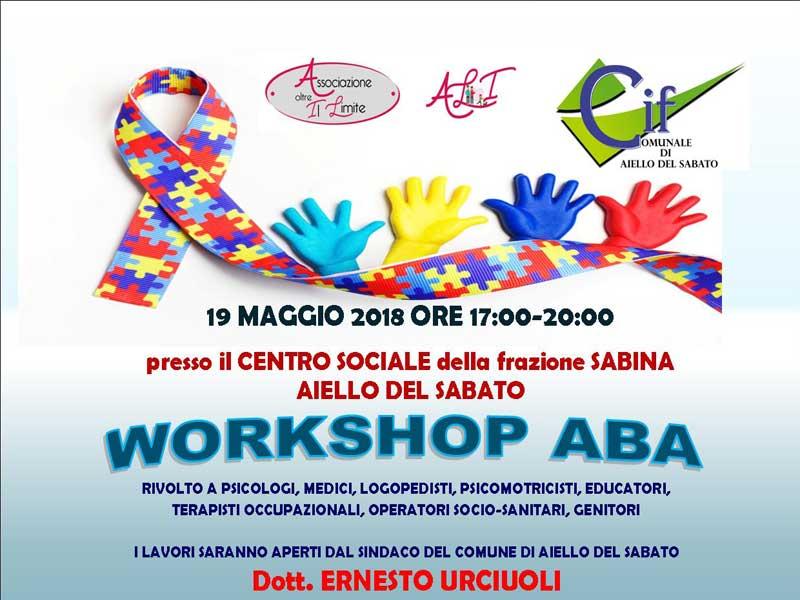 Autismo: workshop ABA per famiglie, operatori e insegnanti